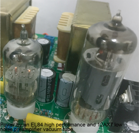 Compact Vacuum Tube Audio Amplifier and Speaker System