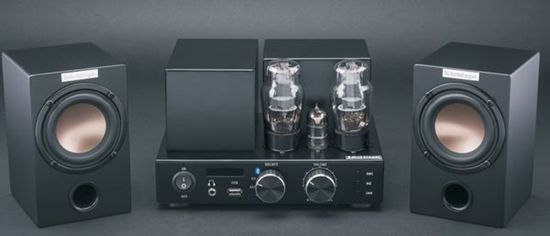 Schrödinger Audio CFA153B-S1-BR-S139B1 Vacuum Tube Amplifier with Bluetooth and FM Radio